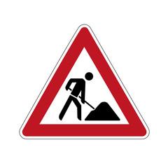 Schild Achtung Baustelle