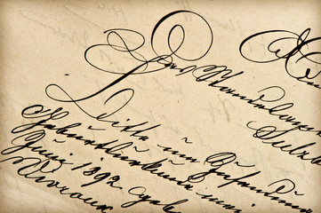 old letter with vintage handwriting