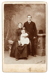 old family photo. vintage background
