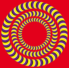 Tuinposter Psychedelic Rotation (Optical illusion)