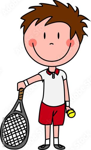 tennis gar on photo libre de droits sur la banque d. Black Bedroom Furniture Sets. Home Design Ideas