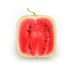 watermelon square isolated on white background