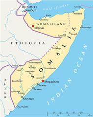 Somalia map (Somalia Landkarte)