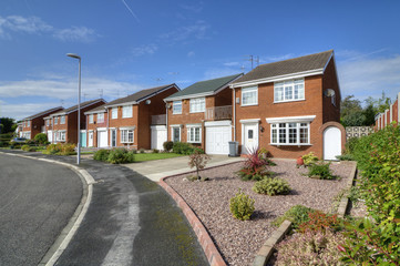 Row of Detached and Semi-Detached Homes