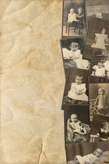 vintage baby pictures in sepia