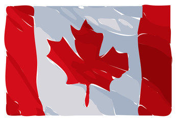 Illustration Raster Of The Canadian Flag