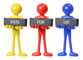 Rubber Figures with Voting  Message