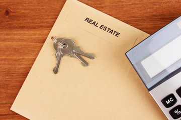 folder with information of real estate