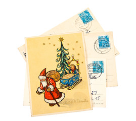 Greeting Christmas Card printed in the East Germany
