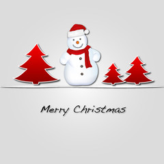 Merry Christmas Schneemann