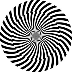 Keuken foto achterwand Psychedelic Black and white hypnotic background. vector illustration