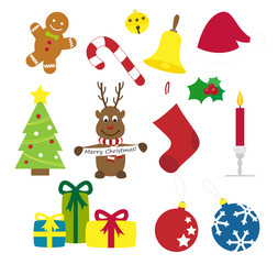 Collection of various vector christmas elements
