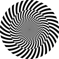 Fototapeten Illusion Black and white hypnotic background. vector illustration