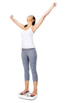 weightloss scale woman