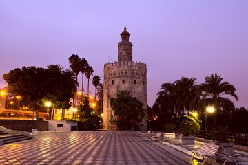 Wall Mural - Torre del Oro - Golden Tower in Sevilla