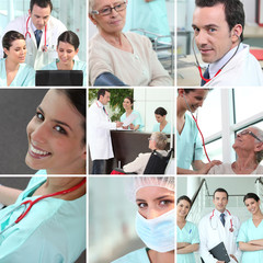 Hospital staff mosaic