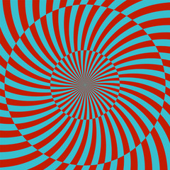 In de dag Psychedelic Retro style hypnotic background. vector illustration
