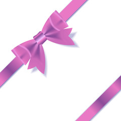 PInk Gift Ribbon . Vector illustration