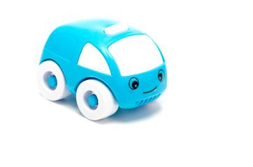 Happy blue toy car