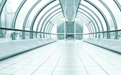 diminishing transparent hallway