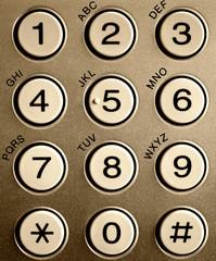 Phone keypad close up