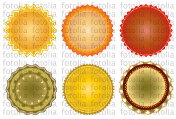 6  certificate stamps
