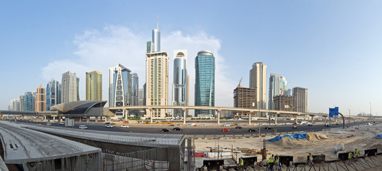 Construction Sites of Dubai