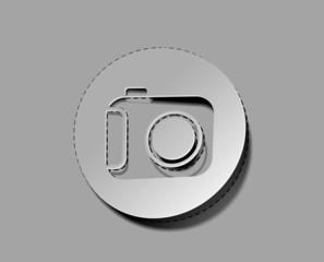 vector glossy camera web label icon design element.