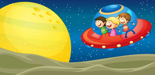 kids and flying saucers