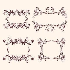 Vintage frames and design elements collection