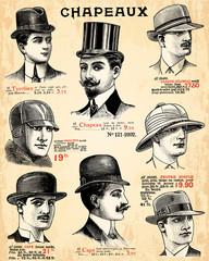 Fotomurales - Chapeaux pour hommes