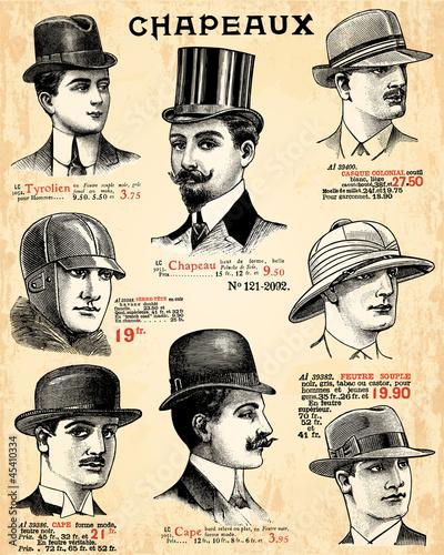 Wall mural Chapeaux pour hommes