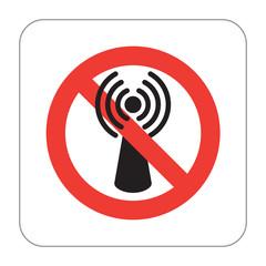 Prohibition Sign No Wireless