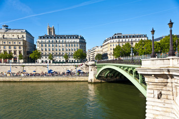 The Siene River in Paris . France.