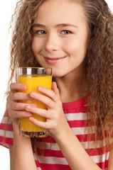 Girl with orange juice