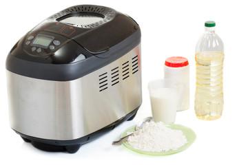 Breadmaker machine and ingredients