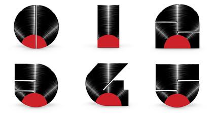 Sticker - Vinyl alphabet 0 1 2 3 4 5