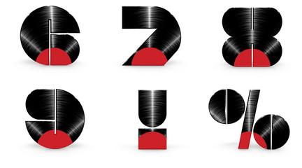 Sticker - Vinyl alphabet 6 7 8 9 exclamation percent