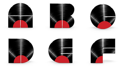 Sticker - Vinyl alphabet A B C D E F