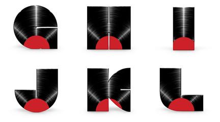 Sticker - Vinyl alphabet G H I J K L