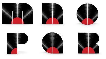 Sticker - Vinyl alphabet M N O P Q R