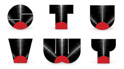 Sticker - Vinyl alphabet S T U V W Y