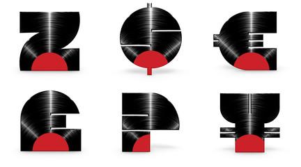 Sticker - Vinyl alphabet Z dollar euro pound question yen