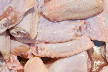 Fresh chilled chicken wings