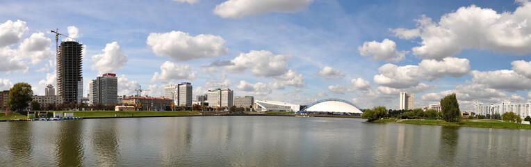 Panorama of Minsk across Svislotch river