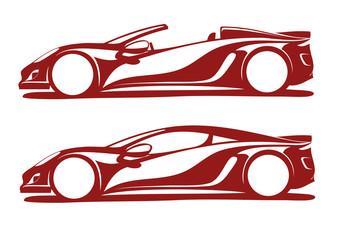 Görkemli 2 spor otomobil