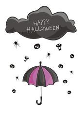 Rain on a Halloween