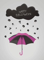 It's raining on a Halloween