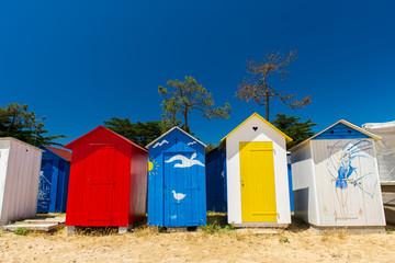 Beach huts Oleron island