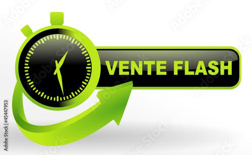 Vente flash sur bouton valid vert et noir fichier - Vente flash internet ...